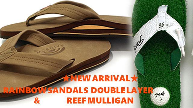 履き心地最高のRAINBOW SANDALS|レインボーサンダルダブルレイヤー、世界シェアNO1Reefのビーチサンダル新着。