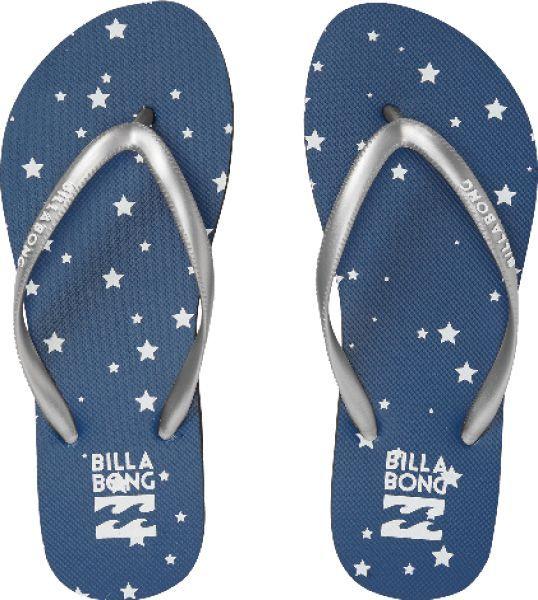 画像1: BILLABONG ビラボン レディース DAMA ビーチ サンダル (スター(星柄)/ネイビー×ホワイト) AI013-976 BUD (1)