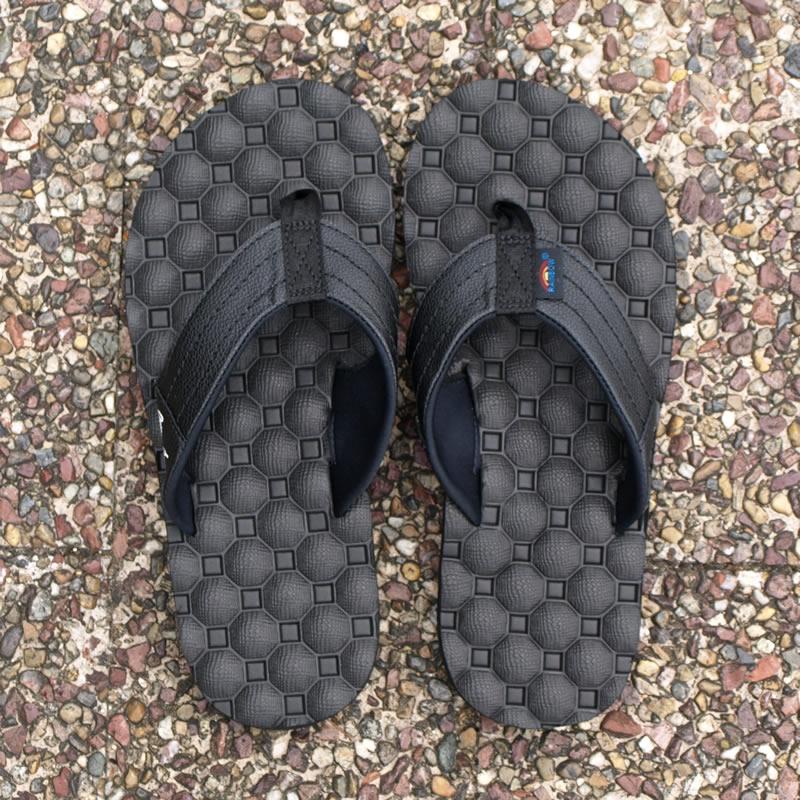 Rainbow Sandals|レインボーサンダル HOLOHOLO SIGNATURE SERIES/GERRY LOPEZ ジェリーロペスモデル ラバー ビーチサンダル (レディース:ブラック/Black)_top