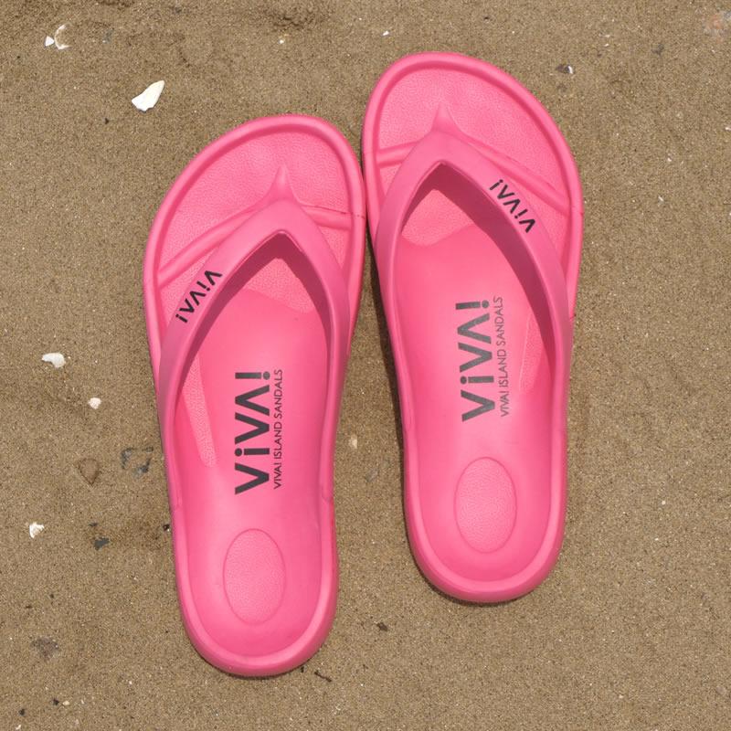 VIVA! ISLAND|ビバアイランド FLIP FLOP ビーチサンダル (ピンク)_top